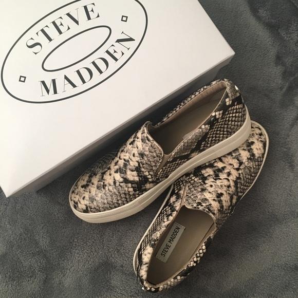 87331f2db22c Steve Madden Shoes | Gills Slipon Sneakers Natural Snake | Poshmark